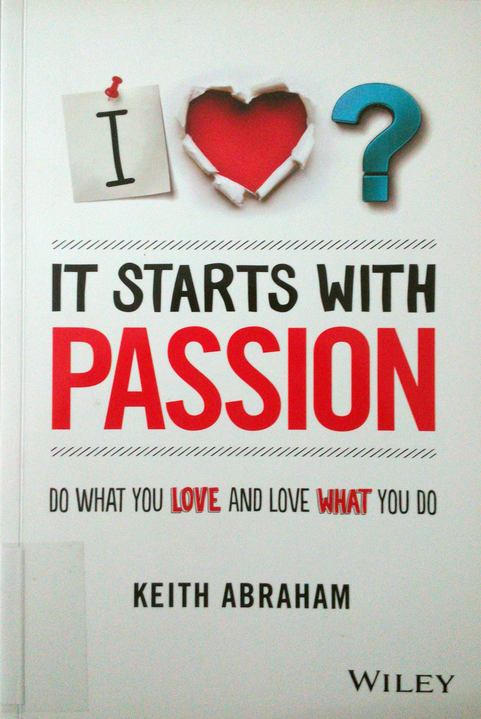 Cover of It Starts with Passion